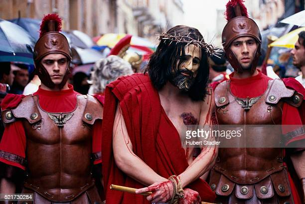 easter procession in marsala - jesus blood stock pictures, royalty-free photos & images