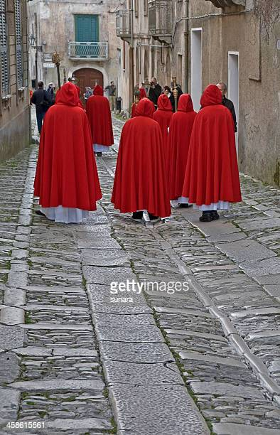 easter procession in sicily (misteri) - happy easter in italian stock pictures, royalty-free photos & images