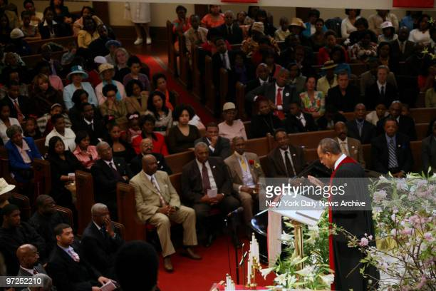 Easter Sunday Mass with Reverend Dr Calvin O Butts III at the Abyssinian Baptist Church at 132 Odell Clark Place on 138th Street and Adam Clayton...