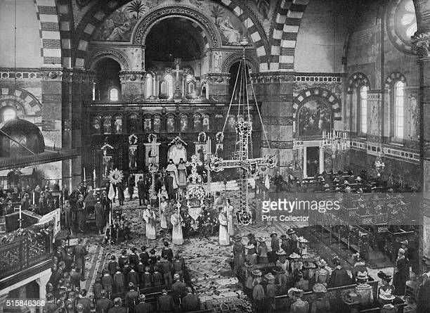 Easter Sunday service at the Greek Church Bayswater London circa 1903 Saint Sophia Cathedral Bayswater is a Greek Orthodox Church It was consecrated...