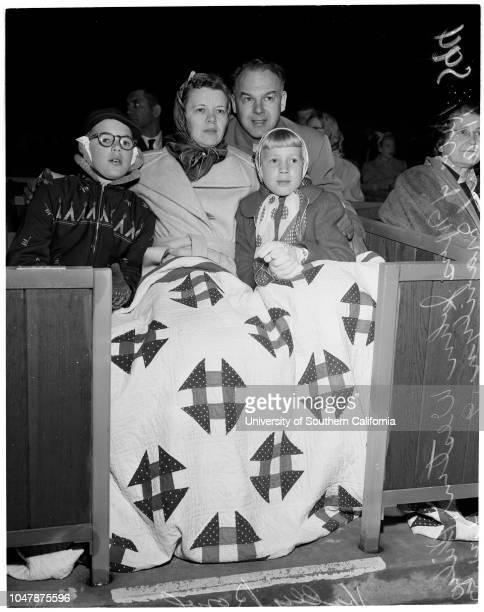 Easter Sunrise Services at Hollywood Bowl 21 April 1957 Reverend and Mrs John Westin 11 yearsMarilyn Westin 9 yearsDr Jitsuo MorikawaCaption slip...