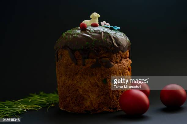 Easter Table - Bread and Eggs for Orthodox Easter