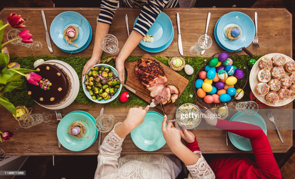 Easter Table : Stock Photo
