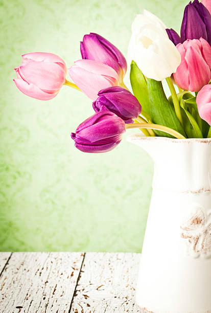 Easter Tulips and Copy Space