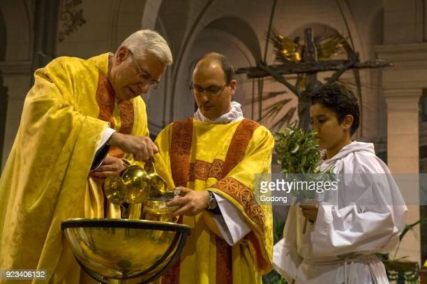 Easter vigil at Notre Dame du Travail catholic church Paris Baptism France