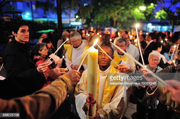 easter vigil. - holy easter vigil stock pictures, royalty-free photos & images