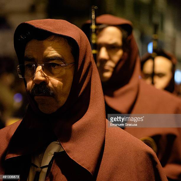 CONTENT] Easter Week Members of Catholic religious brotherhoods during the Enterro do Senhor Procession on Good Friday in Braga Portugal