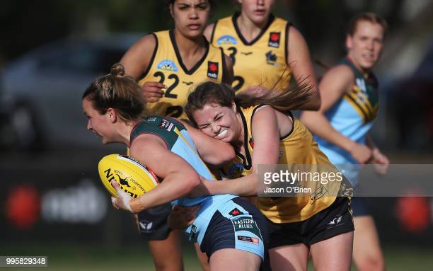 Eastern Allies Alyce Parker during the AFLW U18 Championships match between Western Australia and Eastern Allies at Broadbeach Sports Club on July...