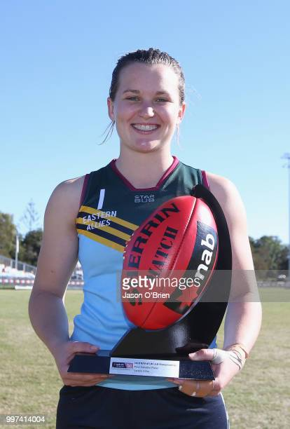 Eastern Allies MVP Alyce Parker at Bond University on July 13 2018 in Gold Coast Australia