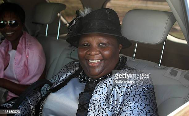Eastern Cape Premier Noxolo Kiviet arrives at the wedding ceremony of President Jacob Zuma's daughter Duduzile Zuma and former head of Lembede...