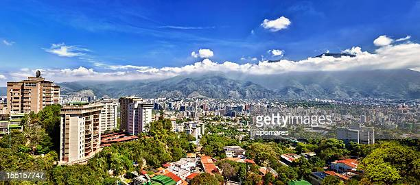 eastern caracas city aerial view at early morning - venezuela stock pictures, royalty-free photos & images
