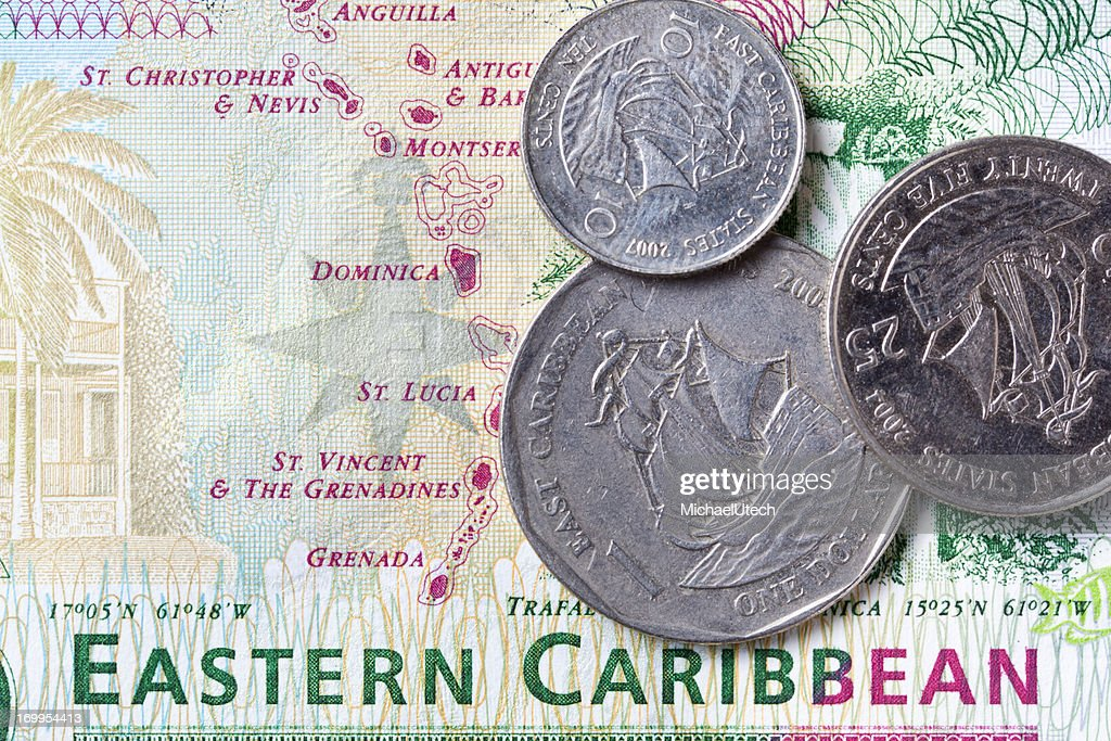 Eastern Caribbean Money : Stock Photo
