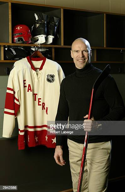 Eastern Conference All Star Mark Messier of the New York Rangers poses during the NHL AllStar portrait session on February 7 2004 at the Xcel Energy...