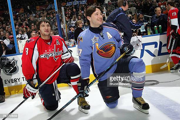 Eastern Conference AllStar Alex Ovechkin of the Washington Capitals and Ilya Kovalchuk of the Atlanta Thrashers look on during the Dodge/NHL...