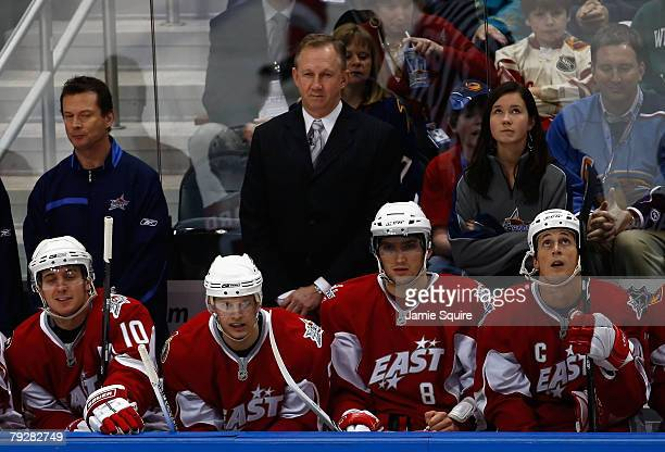 Eastern Conference AllStars head coach John Paddock of the Ottawa Senators looks on from the bench during the 56th NHL AllStar Game at Philips Arena...