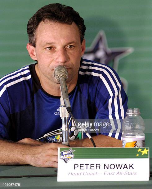Eastern Conference Coach Peter Nowak at the MLS All-Star press conference at RFK Staduim on July 31, 2004.
