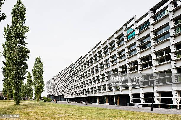 eastern docklands, hope, love and fortune residential building, amsterdam - hope imagens e fotografias de stock