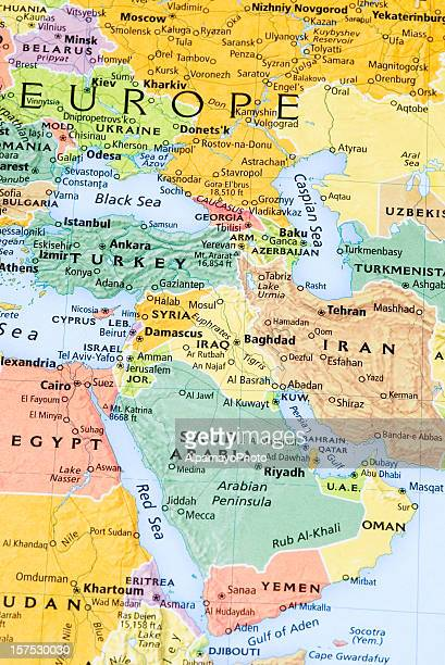 Eastern Europe, Middle East and Persian Gulf Region map