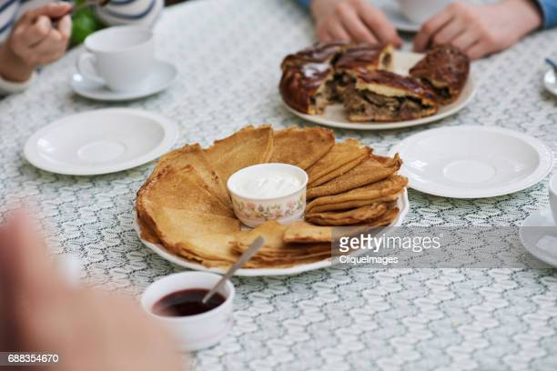 eastern european desserts on table - cliqueimages stock pictures, royalty-free photos & images