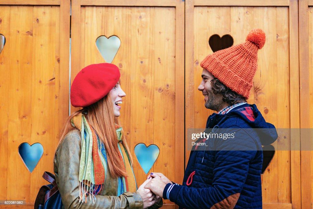 Eastern European loving couple : Stock Photo