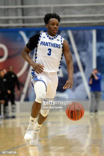 Eastern Illinois Panthers Guard Mack Smith brings the ball up the court during the Ohio Valley Conference college basketball game between the...