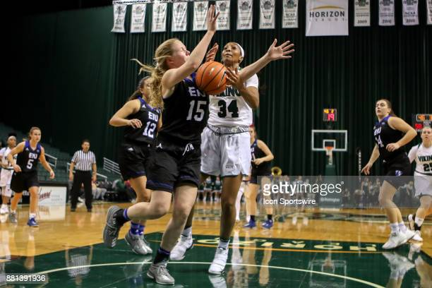 Eastern Illinois Panthers guard Taylor Steele steals the ball from Cleveland State Vikings forward Shadae Bosley during the third quarter of the...