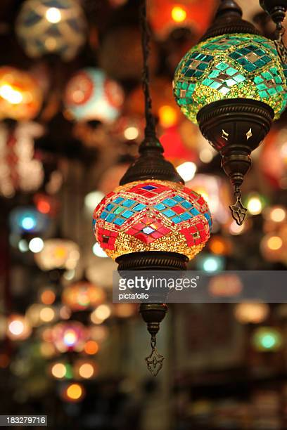eastern lanterns - lamp stock photos and pictures