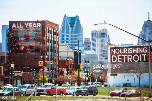 eastern market, detroit - detroit stock pictures, royalty-free photos & images