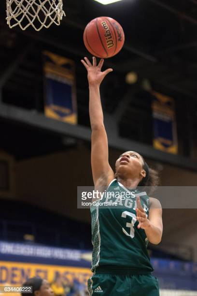 Eastern Michigan Eagles F Tori Easley shoots during the third quarter of the women's college basketball game between the Eastern Michigan Eagles and...