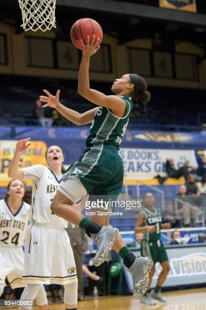 Eastern Michigan Eagles G Micah Robinson shoots during the third quarter of the women's college basketball game between the Eastern Michigan Eagles...