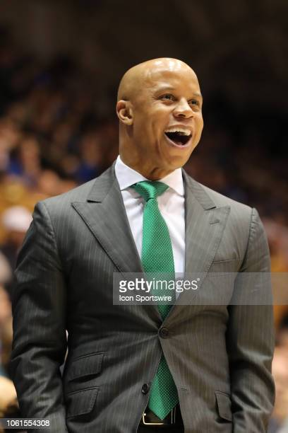 Eastern Michigan Eagles head coach Rob Murphy during the 2nd half of the Duke Blue Devils game versus the Eastern Michigan Eagles on November 14 at...