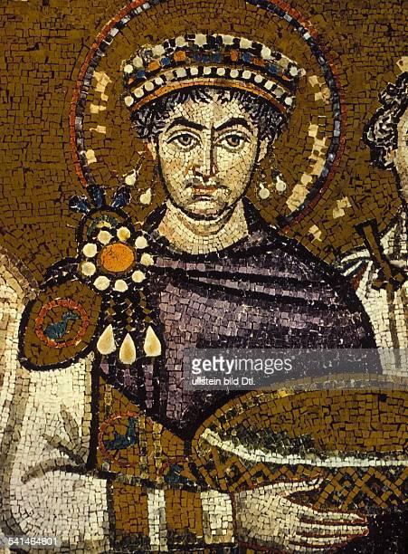 Eastern Roman Empire Justinian I 11.05.482-11.11.565 Byzantine Emperor 527-565 - mosaic from St. Vitale, Ravenna - 6th century