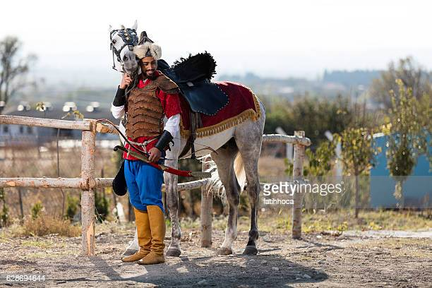 Eastern Warrior and Horse