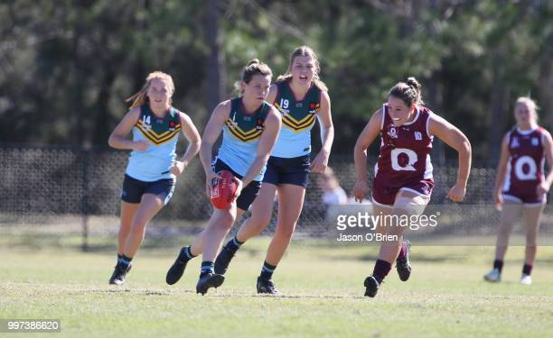 Eastern's Alyce Parker during the AFLW U18 Championships match between Queensland and Eastern Allies at Bond University on July 13 2018 in Gold Coast...