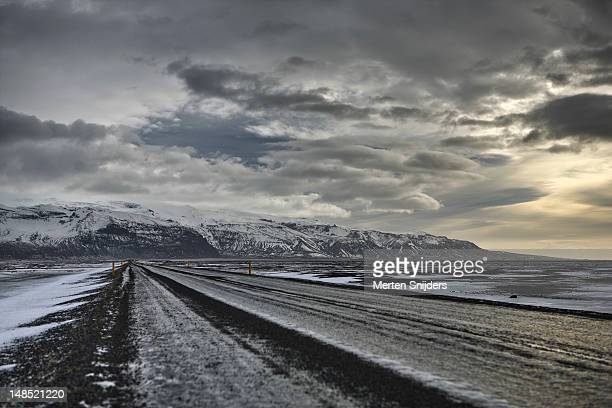 eastfjords winter landscape. - merten snijders stock pictures, royalty-free photos & images