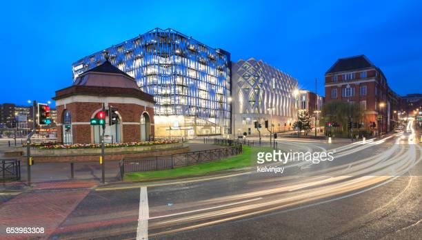 eastgate and the john lewis store in leeds, uk - leeds skyline stock photos and pictures