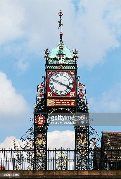 Eastgate Clock Victorian age clock Eastgate Street Chester England United Kingdom 19th century