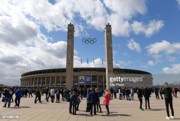 Eastgate of the Berliner olympic stadium before the game between Hertha BSC and dem VfL Wolfsburg on april 22 2017 in Berlin Germany