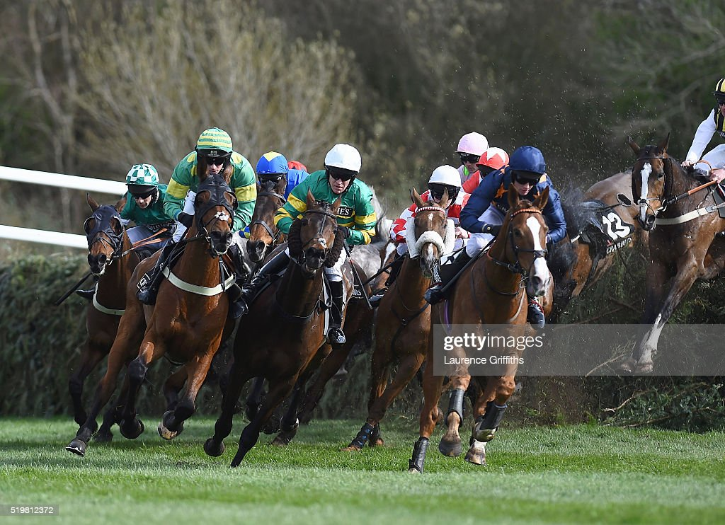 Eastlake ridden by Barry Geraghty comes out of Canal Turn during The Crabbies Topham Steeple Chase at Aintree Racecourse on April 8, 2016 in Liverpool, England.