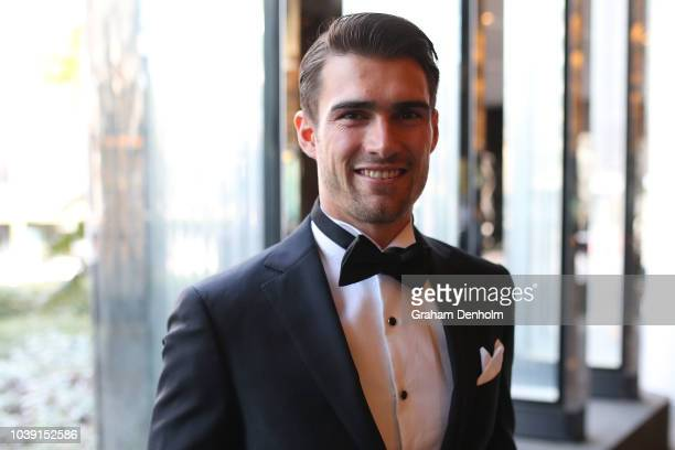 Easton Wood of the Bulldogs wears M.J. Bale for the 2018 Brownlow Medal at Crown Entertainment Complex on September 24, 2018 in Melbourne, Australia.
