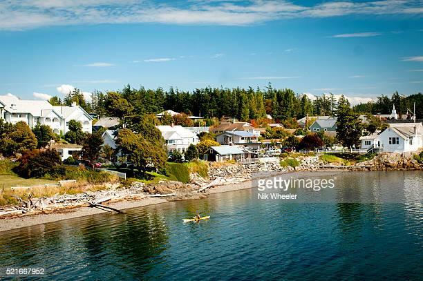 eastsound village on orcas island in the san juan islands, washington state, usa - washington state imagens e fotografias de stock
