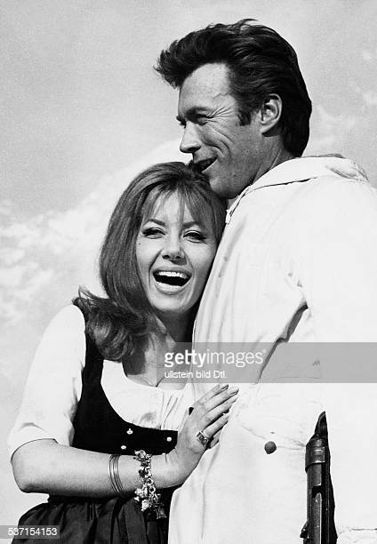 Eastwood Clint Actor USA * with Actress Ingrid Pitt 1970 Photographer Helmut Neuper Published by '