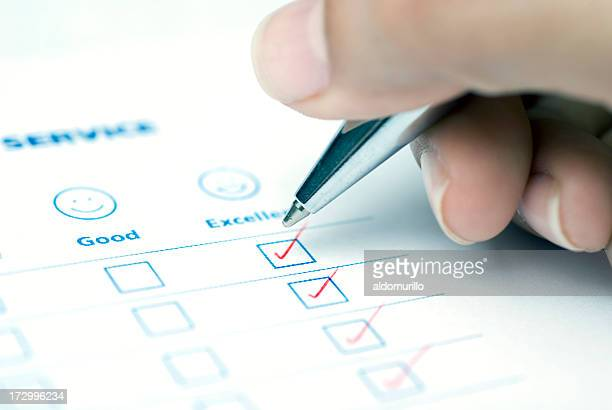 easy choice - questionnaire stock photos and pictures