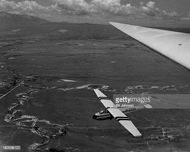 AUG 2 1978 AUG 12 1978 AUG 13 1978 Easy Flying A glider piloted by a teenager sails over the country side near Colorado Springs as it approaches its...