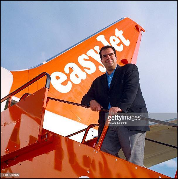 Easy Jet Air Compagny CEO Stelios HajiIonnou in France on August 29 2001