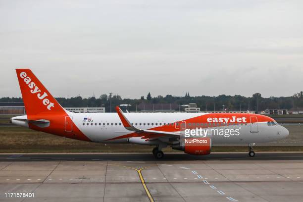 Easy Jet Airbus A320 plane is seen at Tegel Airport in Berlin Germany on 25 September 2019