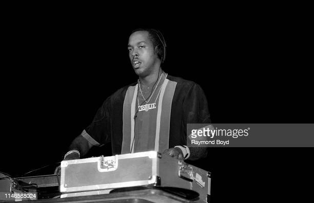 Easy Lee deejay for rapper Kool Moe Dee performs at the UIC Pavilion in Chicago Illinois in September 1987