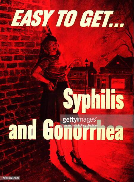 Easy to get syphilis and gonorrhea 1940 American Public health poster to raise awareness venereal disease