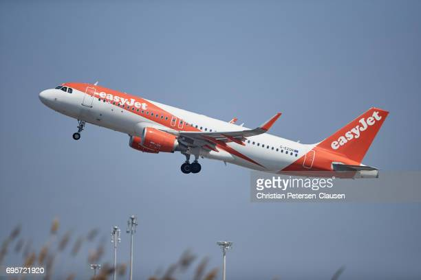 EasyJet Airbus 320 taking off Editorial Only