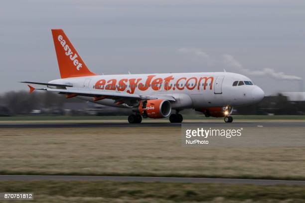 EasyJet airplanes as seen in Amsterdam airport and Polderbaan runway in March EasyJet is British low cost airline with branches in Switzerland and...